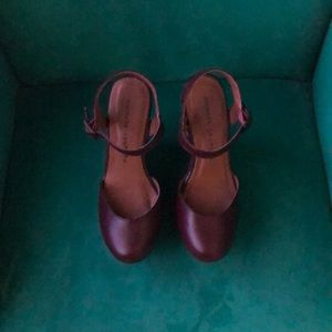 Chinese Laundry Shoes - Burgundy colored wedges
